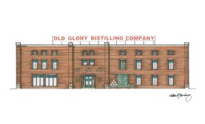 Old Glory Distilling Co Building Drawing